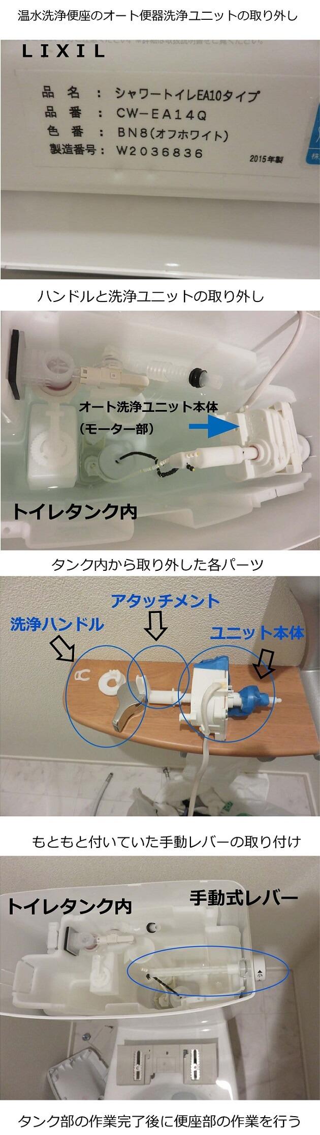 オート洗浄ユニット取り外し手順
