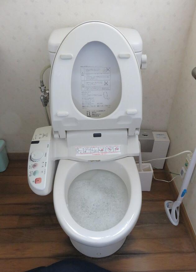 水の流れが悪いトイレ