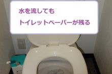 トイレットペーパーが流れない